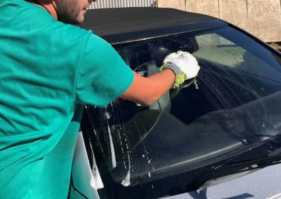 The specifically designed car washing mitt features hundreds of cloth nipples which ensure the most professional clean